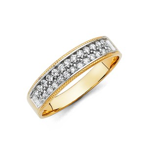 Yellow Gold 14k and Women's 2pc Set Sizes 7 and 10 Men's Wedding Band