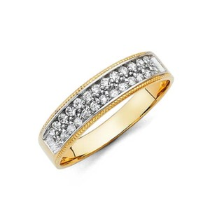Yellow Gold 14k Size 10 Men's Wedding Band