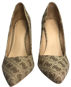 Guess By Marciano Leather Braylea Tan and Guess Monogram Pumps