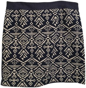 Pixley Pattern Skirt blue and white