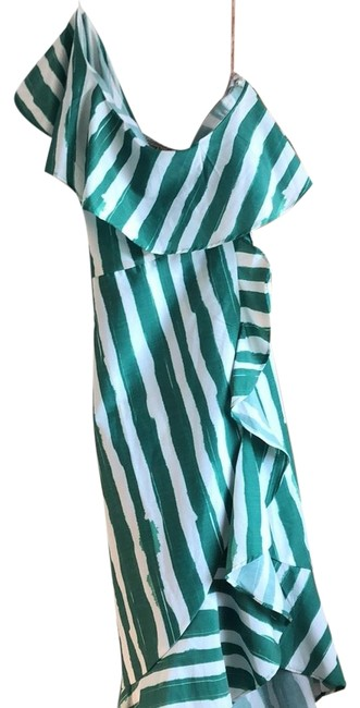 Item - Green/White Mid-length Casual Maxi Dress Size 12 (L)