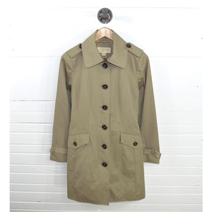 Michael Kors Polyester Cotton Tortoise Shell Fall Winter Trench Coat