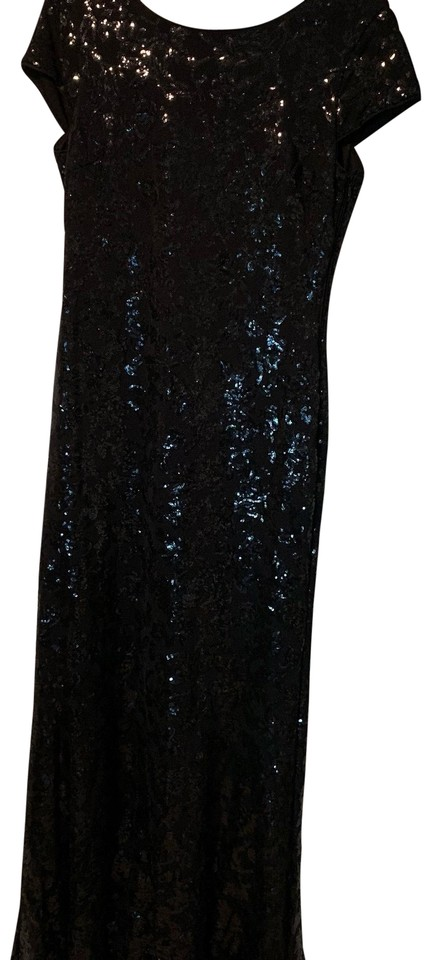 Calvin Klein Black Sequin Gown Long Formal Dress Size 12 L Tradesy