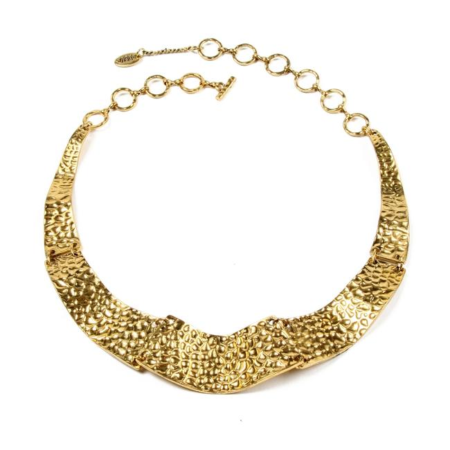 Amrita Singh Gold New Cleopatra Style Hammered Bib Necklace Amrita Singh Gold New Cleopatra Style Hammered Bib Necklace Image 1