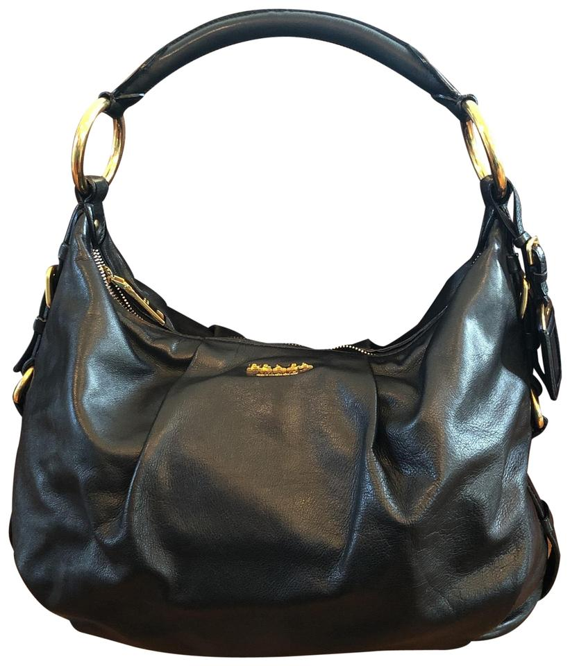 d2c0d2b53baf5a Prada Soft Calf Br4224 Nero Black Leather Hobo Bag - Tradesy