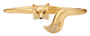 Kate Spade So Foxy Open Hinge Fox Cuff Bracelet WBRUG064
