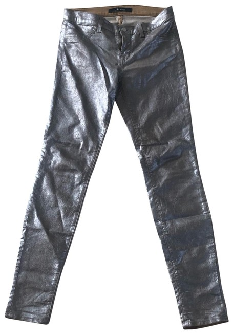 Item - Metallic Silver Coated Stretchy Rare Indigo Skinny Jeans Size 4 (S, 27)