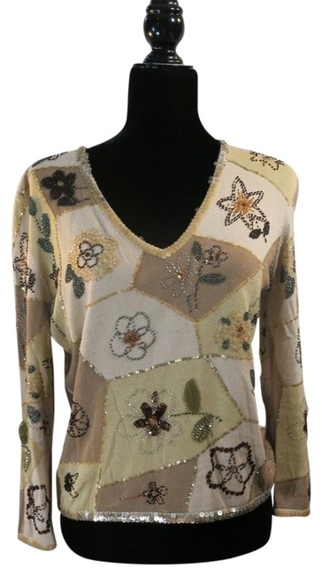Item - Cheap and Chic Beige Beaded Sweater
