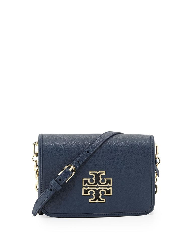 06467af7312 Tory Burch Britten Combo Blue Leather Cross Body Bag - Tradesy