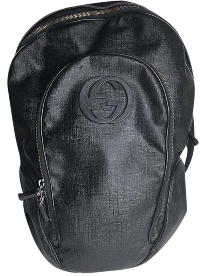 066ade5c0f238e Gucci Backpack Inerlocking Gg 223705 Black Canvas Weekend/Travel Bag ...