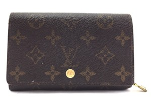Louis Vuitton Monogram Short Flap Wallet Zip zip around Holder Coin