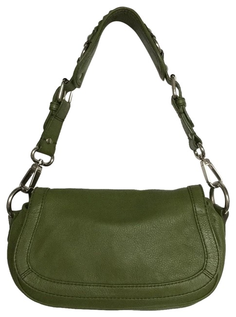Item - Satchel Green Leather Shoulder Bag