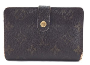 Louis Vuitton Monogram French Kiss Lock Wallet card bill case