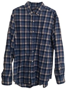 J.McLaughlin Button Down Shirt Blue