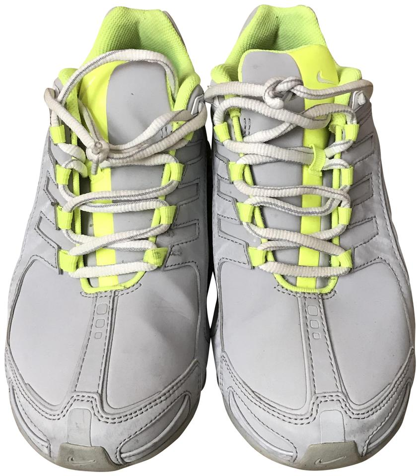 outlet store e5e02 1f664 Nike Grey/Volt Green Shox Navina Wolf Sneakers Size US 7 Regular (M, B)