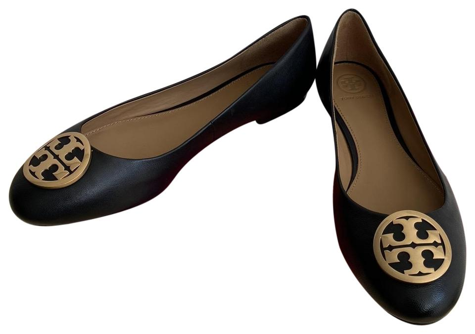 39fb50043d78 Tory Burch Black   Benton   Ballet Nappa Leather Flats Size US 8 ...