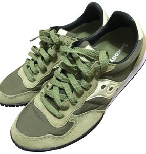 Saucony olive and lime green Athletic