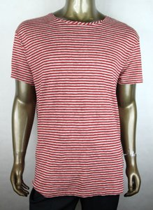 Gucci Red/Beige Jersey XL Men's Red/Beige Striped Linen T-shirt 408853 6274 Shirt