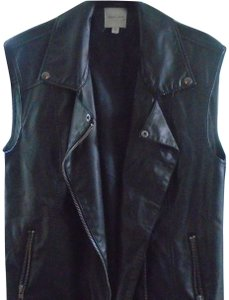 Silence + Noise Moto Style Silence+noise Leather Vest