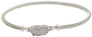 "David Yurman BEAUTIFUL!! David Yurman Sterling Silver Wheaton Pavé Diamond Petite Cable Bracelet 3mm Sized small, 6.75"" 0.37 cttw Pavé Diamonds Hook clasp 100% Authentic Guaranteed!! Comes with Original David Yurman Pouch!!"