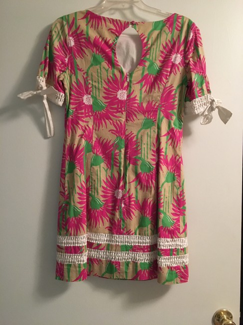 Lilly Pulitzer short dress tan/pink/green on Tradesy Image 1