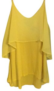 Sparkle & Fade Top Bright Yellow