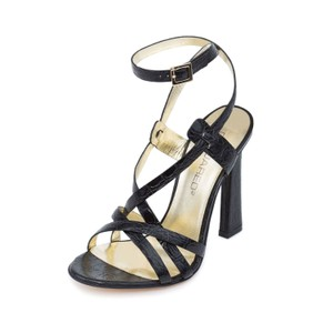 Dsquared2 D2 Women Crocodile High Heel Black Sandals