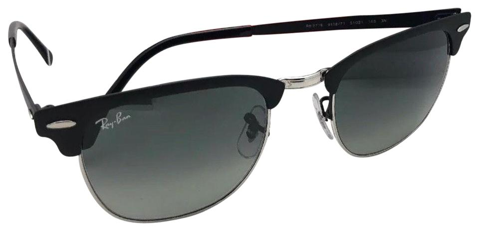 6129238246 Ray-Ban RAY-BAN Sunglasses CLUBMASTER METAL RB 3716 9118/71 51- ...