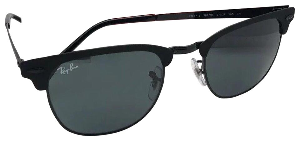 1ccc93d56c6 Ray-Ban RAY-BAN Sunglasses CLUBMASTER METAL RB 3716 186 R5 Black Frame ...