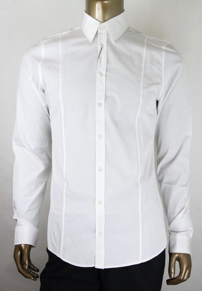 754b69bf6f3 Gucci White Men's Cotton Slim Dress 38/15 307656 21131 9000 Shirt Image 0  ...
