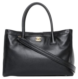 Chanel Vintage Lambskin Classic Flap Tote in Black
