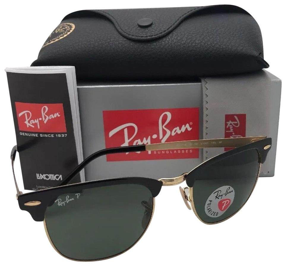 6643b3f46f Ray-Ban Polarized RAY-BAN Sunglasses CLUBMASTER METAL 3716 187 58 Black- ...