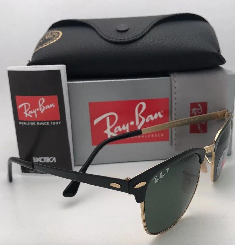 a539b2fd0049c Ray-Ban Polarized Clubmaster Metal Rb 3716 187 58 Black-gold W  Green  Lenses 187 58 Sunglasses - Tradesy