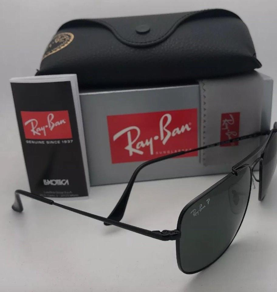 b9ebe29907 Ray-Ban Polarized The Colonel Rb 3560 002 58 61-17 Black W Green Lenses 002 58  Sunglasses
