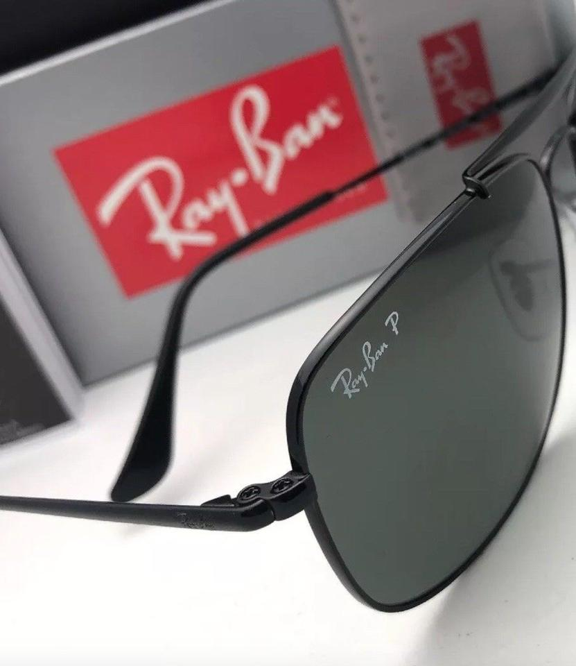 5b66cee1d95 Ray-Ban Polarized The Colonel Rb 3560 002 58 58-17 Black W Green Lenses 002 58  Sunglasses - Tradesy