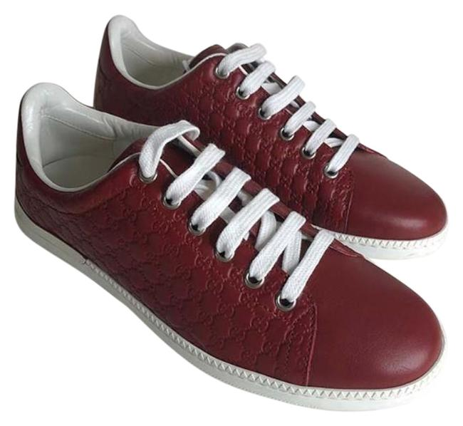 Item - Red New Gg Micro ssima Leather Sneakers Size EU 35.5 (Approx. US 5.5) Regular (M, B)