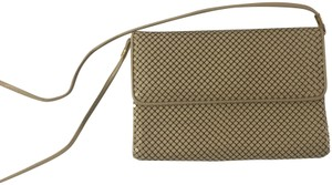 Whiting & Davis Vintage Almond Clutch