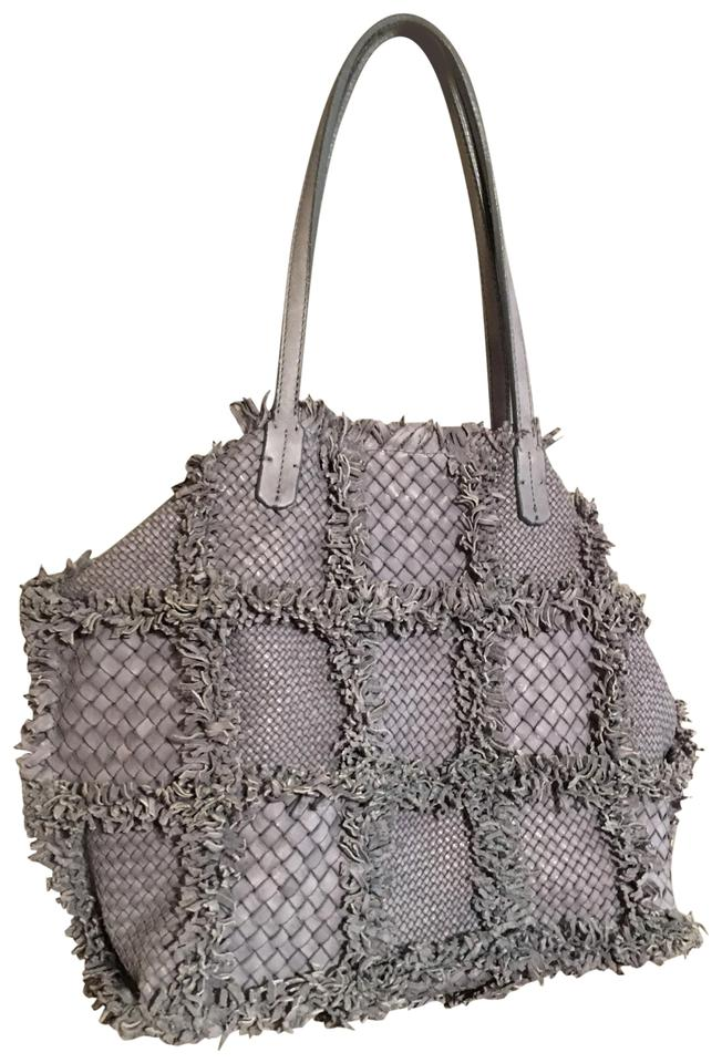 4bcfb83a70 Italian Handmade In Italy Gray Leather Tote - Tradesy