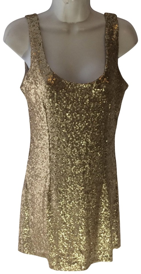 91f7bd1d Tobi Soft Gold Sequin By Short Cocktail Dress Size 8 (M) - Tradesy