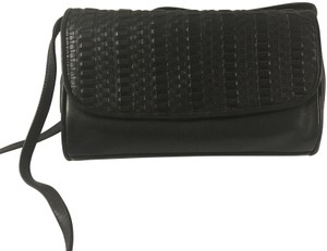 Whiting & Davis Vintage Leather Black Clutch