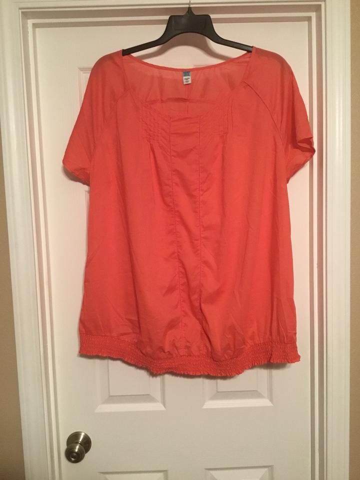 479bd7be64e3a Old Navy Coral Maternity Top Size 22 (Plus 2x) - Tradesy