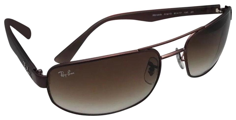 326ae6846d0bc Ray-Ban Rb 3445 012 13 61-17 130 Matte Brown Frame W  Brown Gradient ...