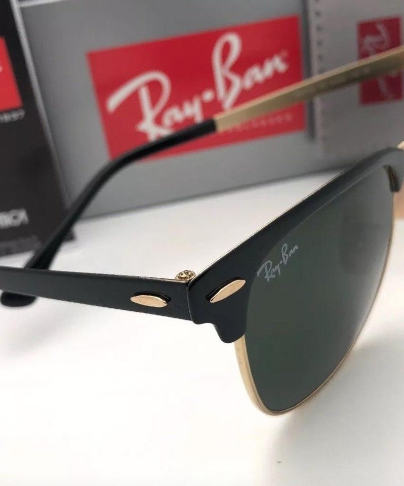 56126f97d ... RAY-BAN Sunglasses CLUBMASTER METAL RB 3716 187 Black & Gold.  123456789101112