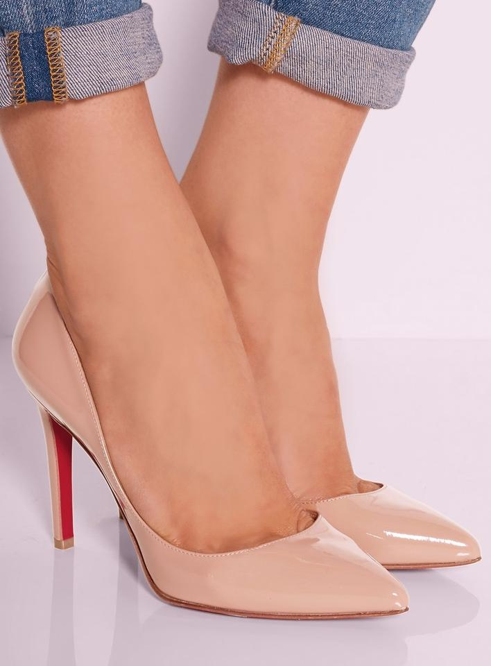 a07f3669ecc Christian Louboutin Beige Nude Rose New Pigalle 100 Mm Patent ...