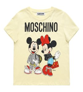 Moschino Mickey Minnie Jeremy Scott H&m T Shirt Yellow