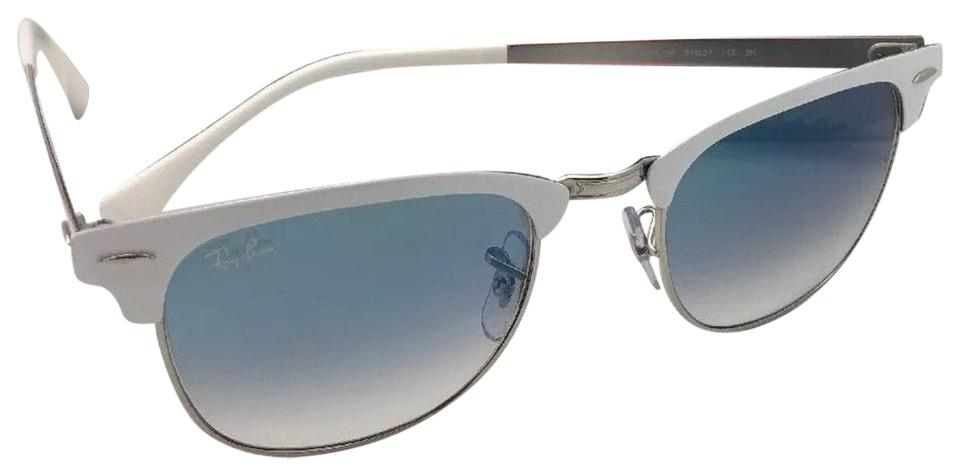 5c3cf07e7b Ray-Ban RAY-BAN Sunglasses CLUBMASTER METAL RB 3716 9088 3F White Silver ...