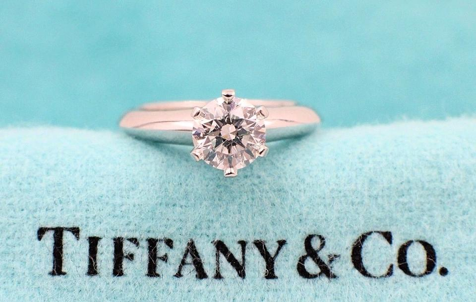 2c514d24a Tiffany & Co. H Vs1 Platinum Diamond Round 0.75 Ct Solitaire Engagement Ring