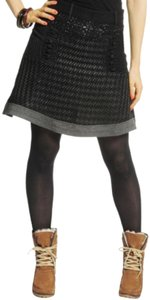 Desigual Mini Skirt Black/Gray