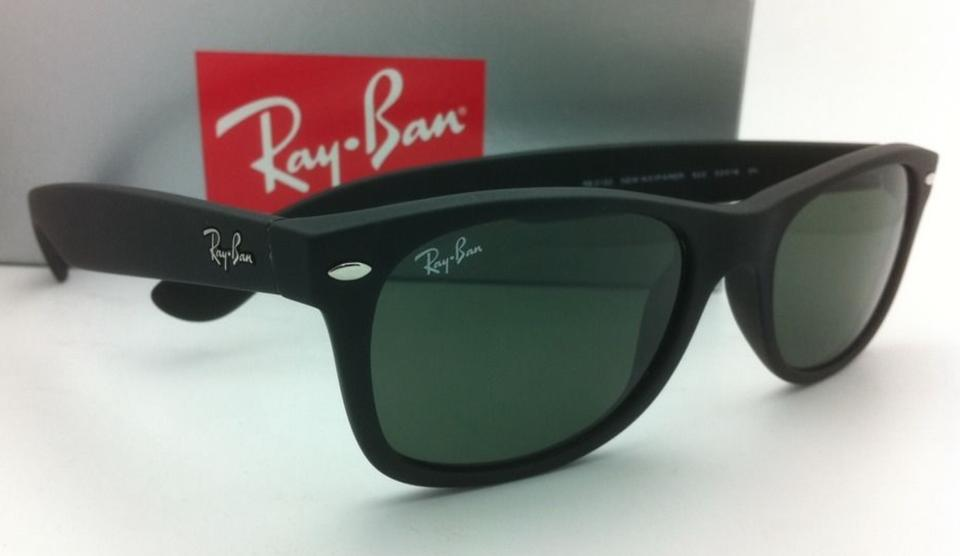 aebf030492a Ray-Ban Rb 2132 New Wayfarer 622 52-18 Black Rubber W  G15 Green W ...