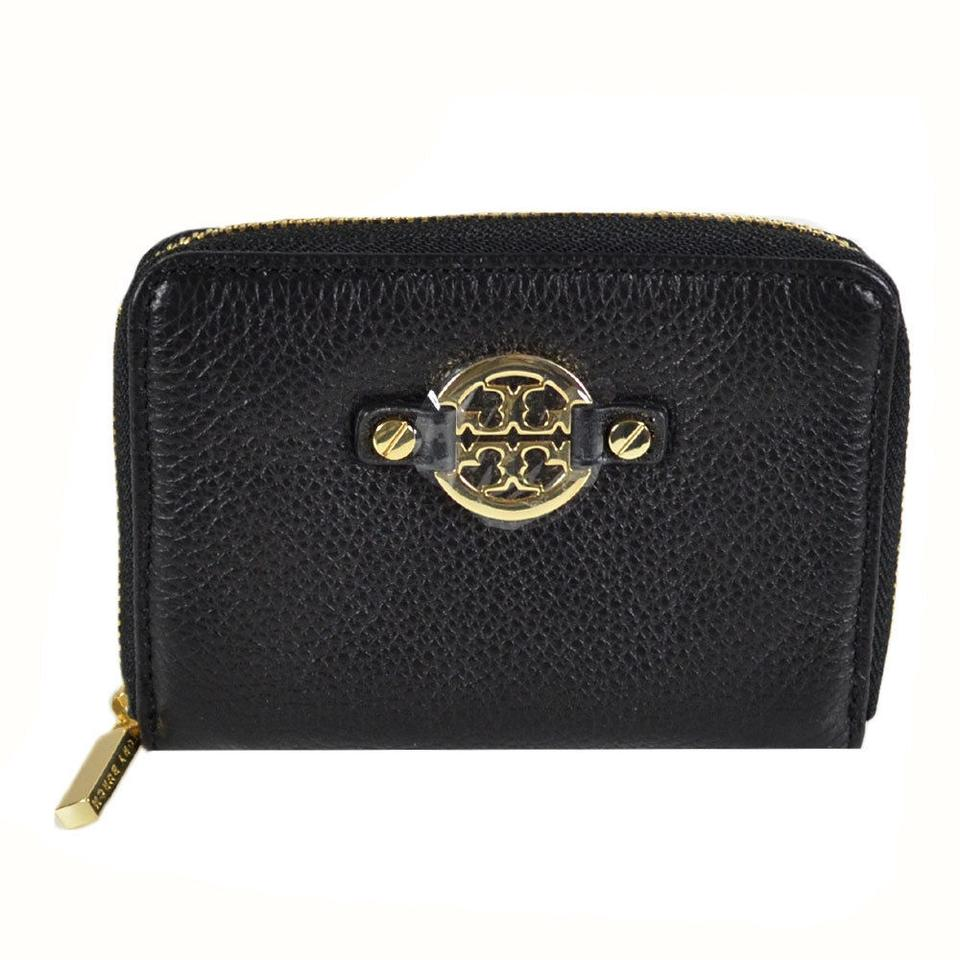 ae0d4916e5fb Tory Burch Black Amanda Zip Coin Case 50009090 Wallet - Tradesy